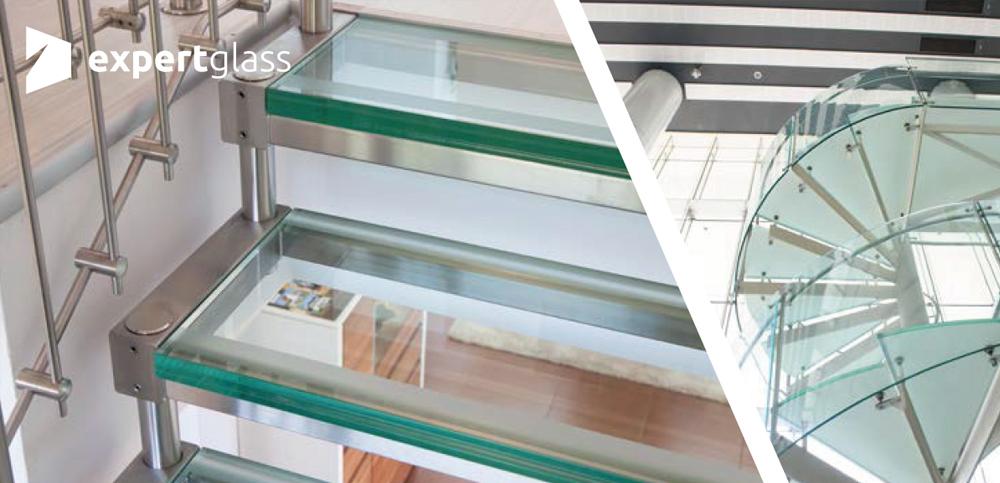 Schody i podłogi ze szkła